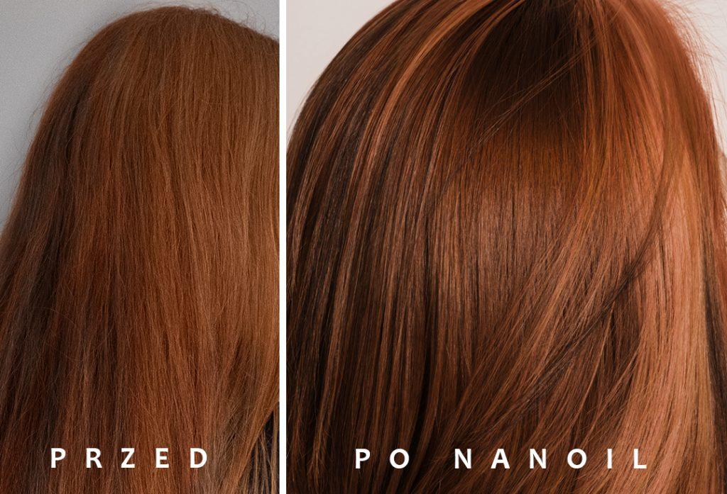 olejek do włosów Nanoil - efekty
